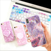 Purple Marble Gold Flakes Phone Case