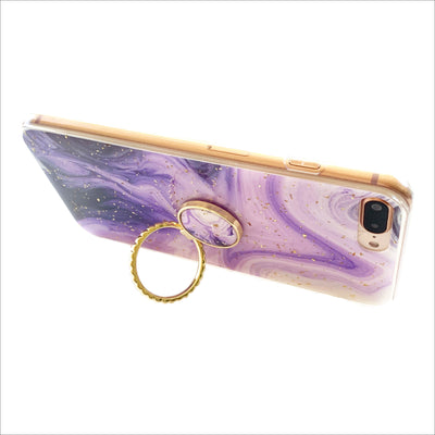 Purple Swirl Golden Grip Ring Case