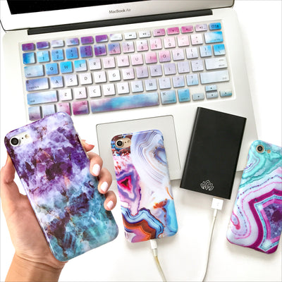 Purple & Blue Amethyst Phone Case