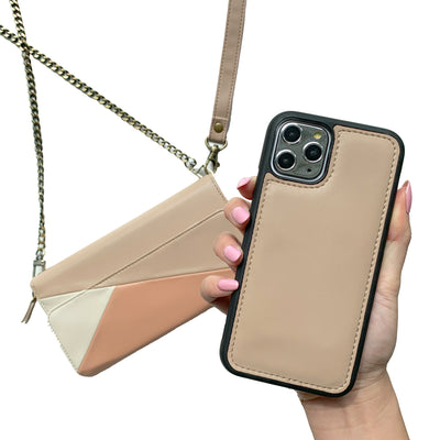 RFID Crossbody Wallet Phone Case in Tri-Color