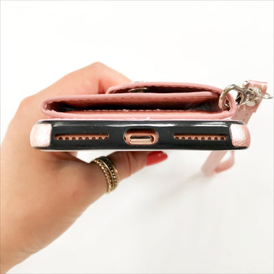 Folded Card Case Wallet in Rose Gold