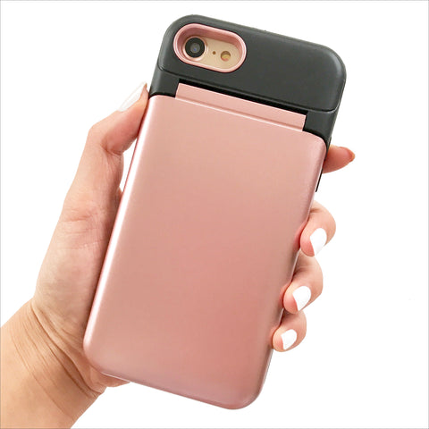 Rose Gold Secret Mirror Card Phone Case