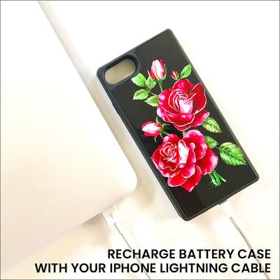 Red Roses Luxe Battery Charging Phone Case