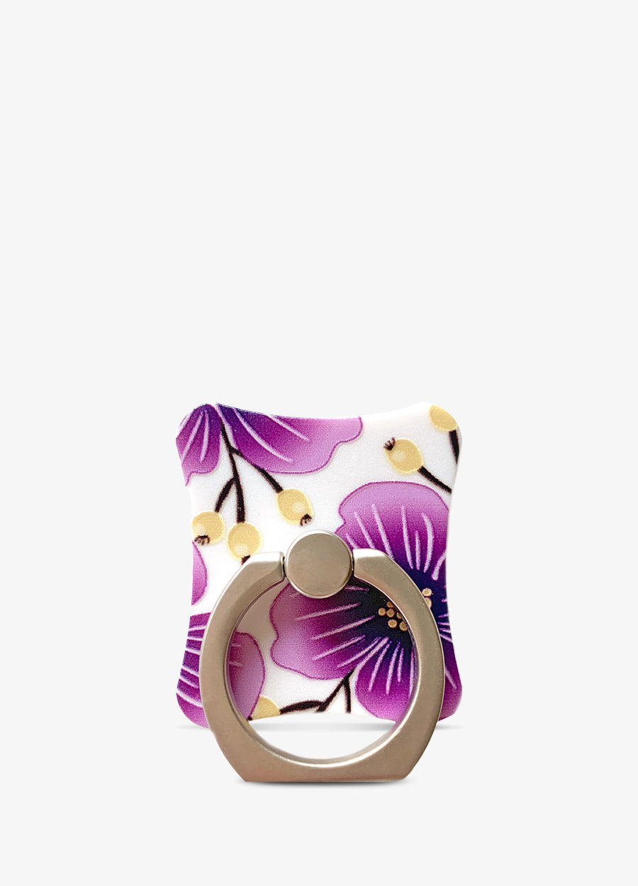 Purple Floral Ring Holder Stand