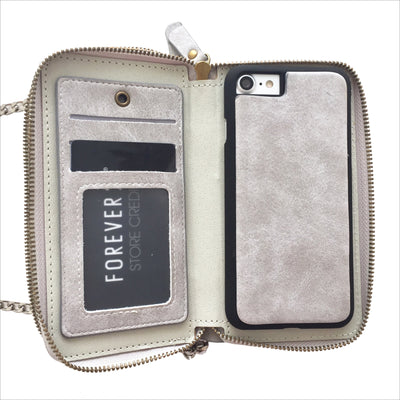 Crossbody Wallet Case in Slate Gray
