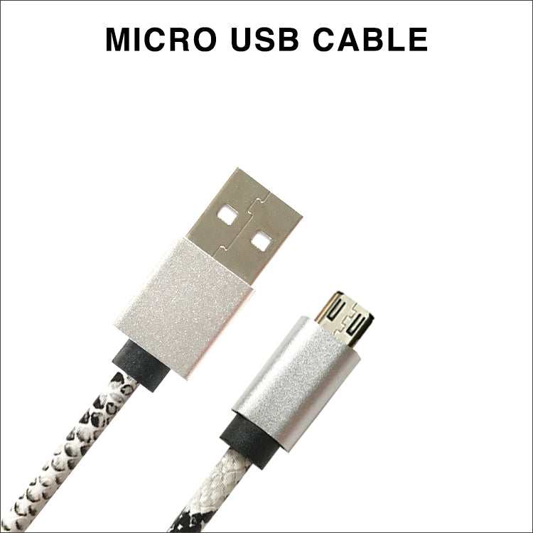 White Snakeskin Charging Cable