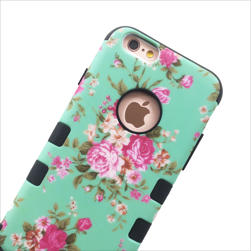Super Protector Case - Black Peonies