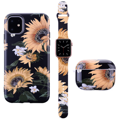 Black Sunflower Phone Case