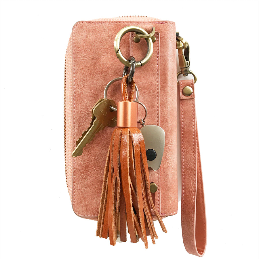 Bronze Tassel Keychain Charging Cable