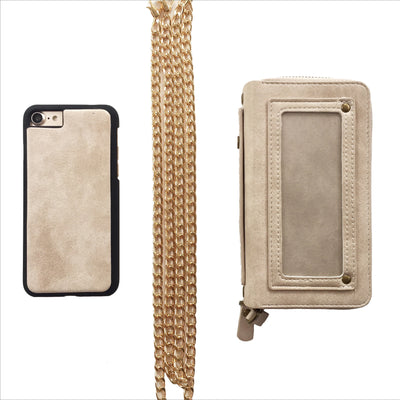 Crossbody Wallet Case in Taupe