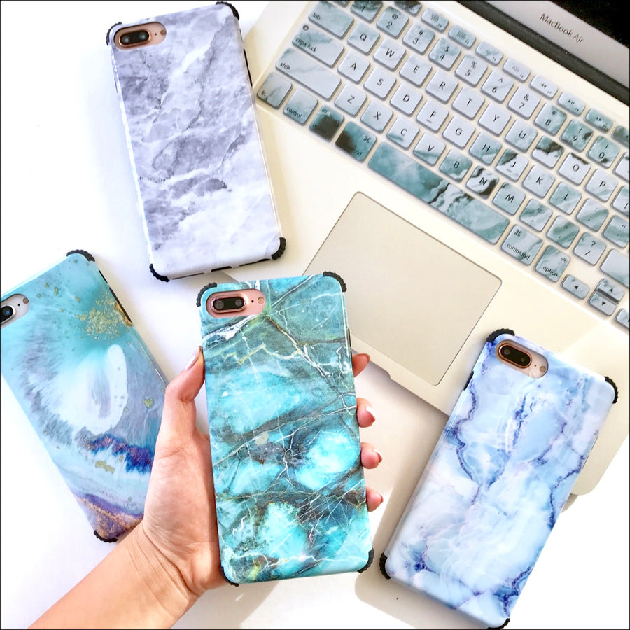 Teal Marble Protector Phone Case