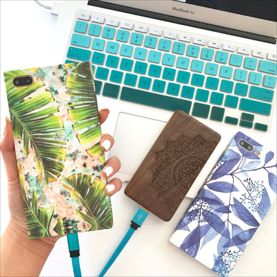 Classic Blue Leaves Box Phone Case
