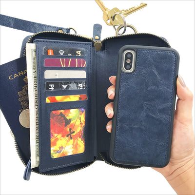 Ultimate Wristlet Phone Case in Navy Blue