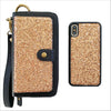 Ultimate Wristlet Phone Case in Rose Gold Glitter