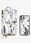Ultimate Wristlet Phone Case in Black & White Floral