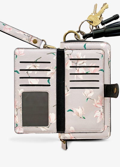 Ultimate Wristlet Phone Case in Baby Magnolia