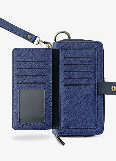 The Luxe Ultimate Wristlet Phone Case in Blue