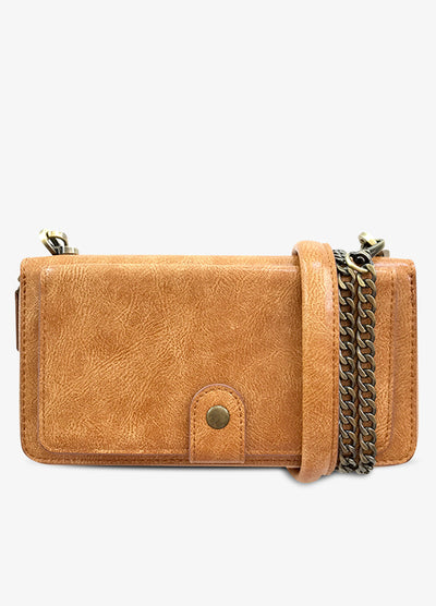Everyday Crossbody Wallet Phone Case in Tan
