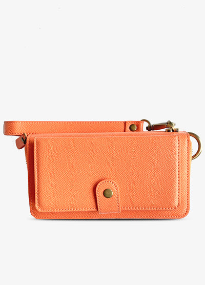 The Luxe Ultimate Wristlet Phone Case in Coral