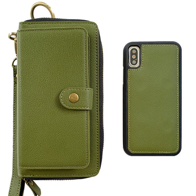 Ultimate Wristlet Phone Case in Olive Green