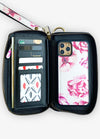 Ultimate Wristlet Phone Case in Pink Peonies