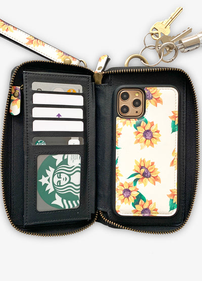 Ultimate Wristlet Phone Case in Sunflower