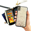 Ultimate Wristlet Phone Case in Silver Glitter