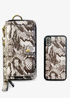Ultimate Wristlet Phone Case in Snakeskin Print