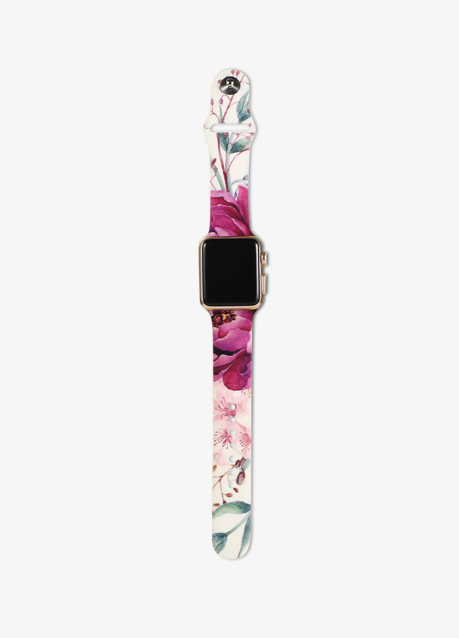 Purple Floral Watch Band