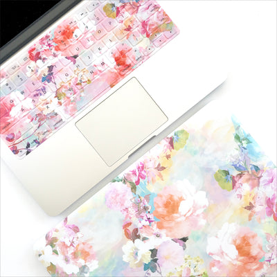 Macbook Case & Keyboard Set - Watercolor Floral