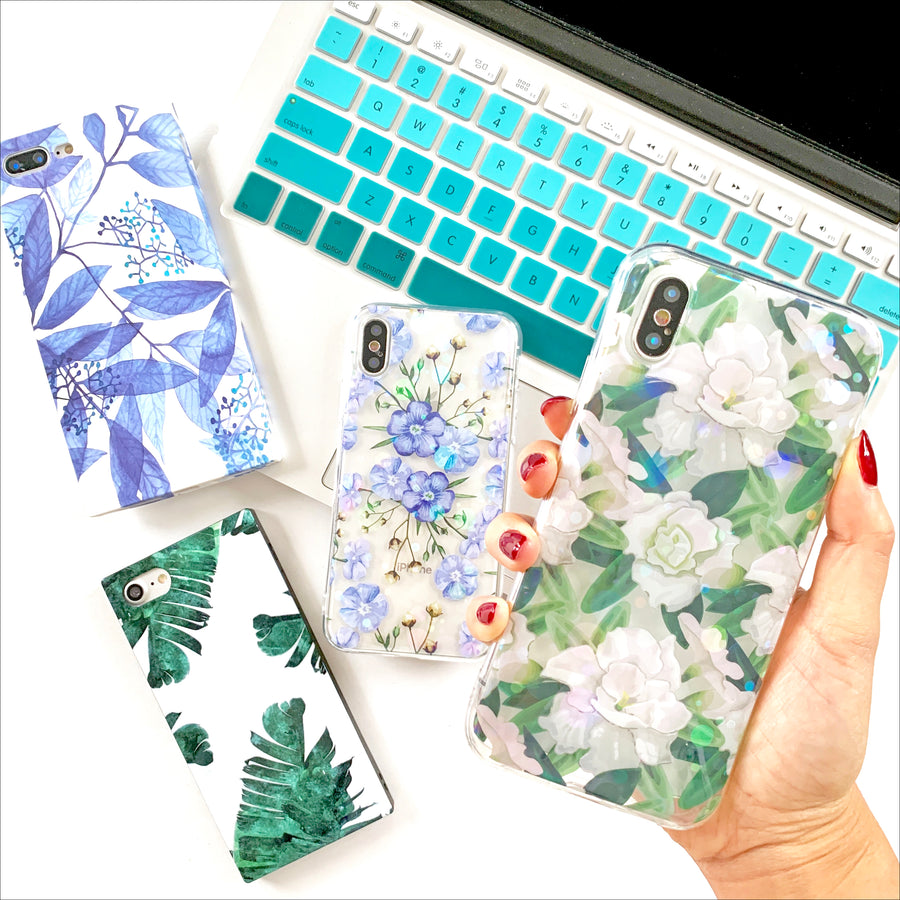 White Camellia Flowers Phone Case