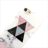 Geo White Marble Box Phone Case