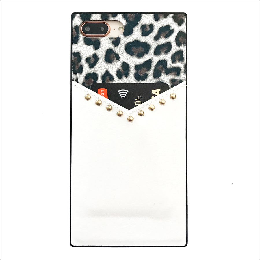 Snow Leopard Card Phone Case