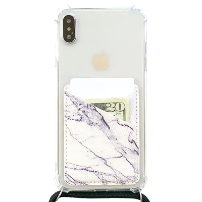 Card Pocket in White Marble