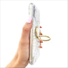 White Marble Golden Grip Ring Case