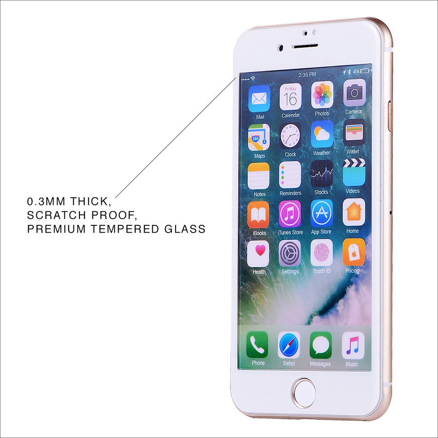 White Glass Screen Protector