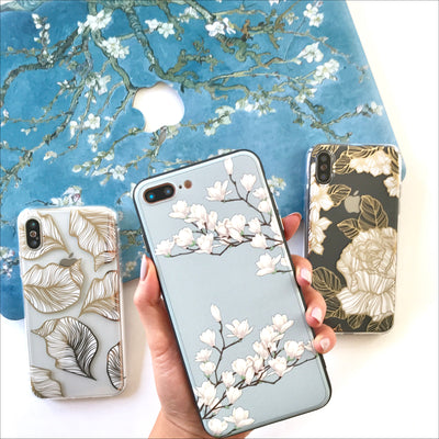 White Magnolia Blossoms Phone Case