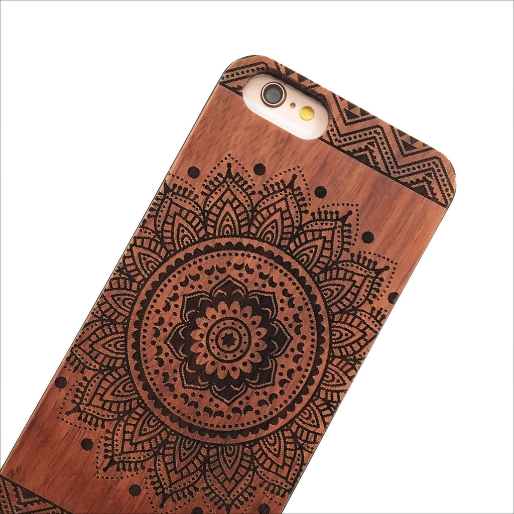Cherry Wood Aztec Mandala Phone Case