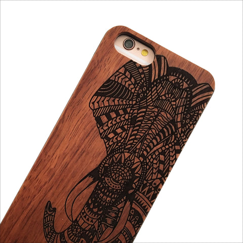 Cherry Wood Tribal Elephant Phone Case