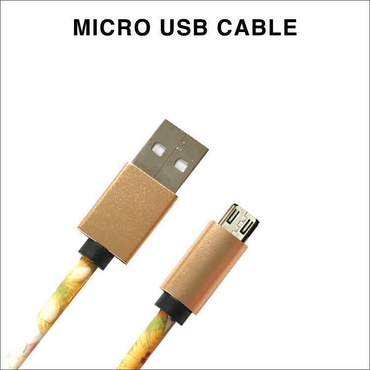 Yellow Floral Charging Cable