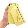 Yellow Tassel Wallet Case