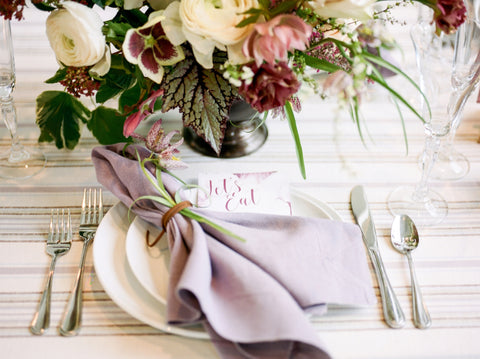 Table Setting Mauve Purple