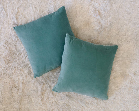Solid Teal Accent Pillows