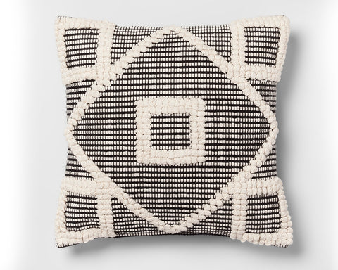 Black n White Diamond Pillow