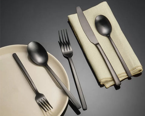 Black Silverware - Set of 5