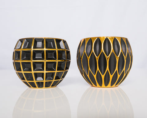 Black n Gold Votives