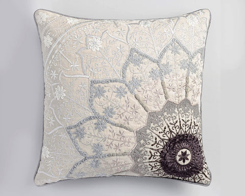 Blue Gray Star Pillow