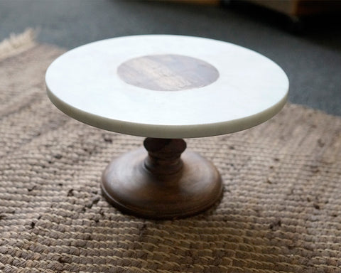 "8"" Marble Cake Stand"