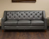 Charcoal Leather Couch