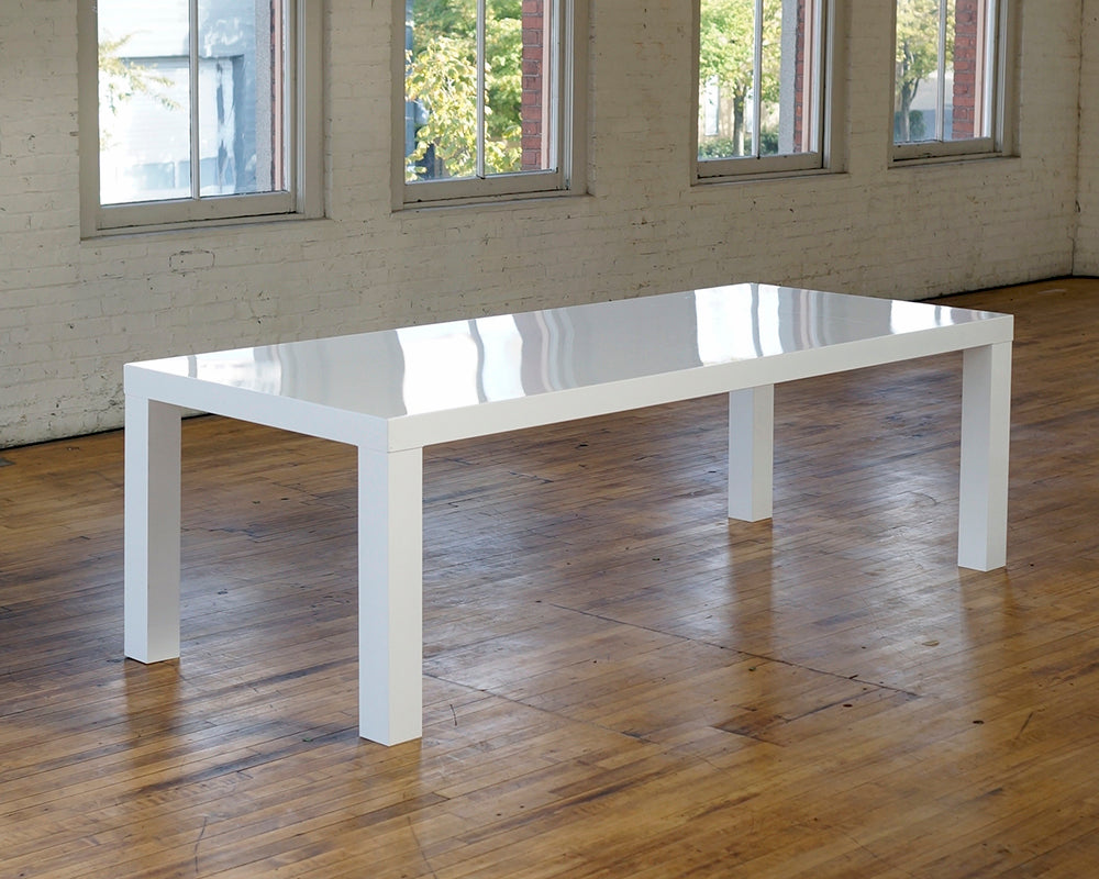 8u0027 White Lacquer   Dining Tables